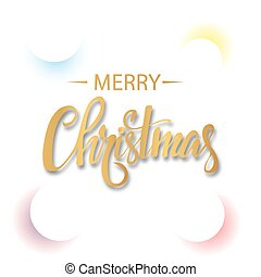 White Christmas background with colored circles and text