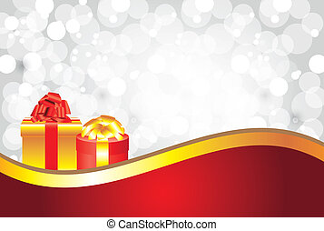 white christmas background with gifts