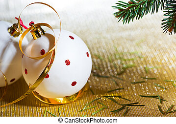 White Christmas Ball with Place for Text