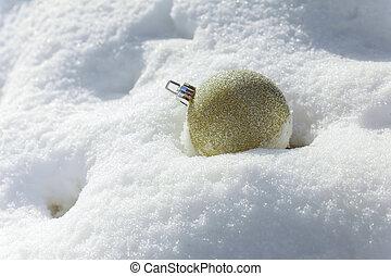 white christmas balls on silver background