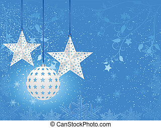white christmas bauble background
