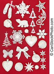 White Christmas Bauble Decorations