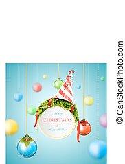 White Christmas billboard vector illustration.