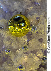 White Christmas decoration with balls