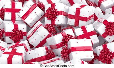 White Christmas gift boxes