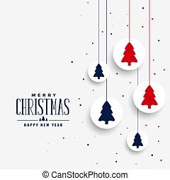 white christmas greeting with tree design background