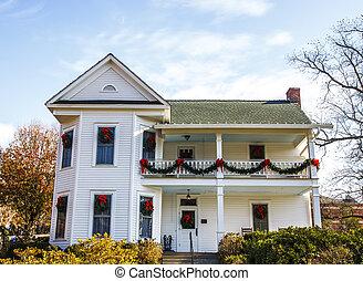White Christmas House