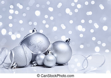 White Christmas ornament - White or silver Christmas...