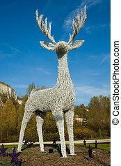 White Christmas stag