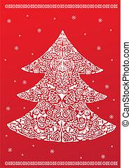 white christmas tree vector uniqe