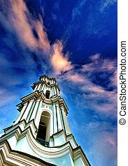 White church belfry