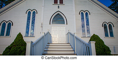 White Church entrance in Nova Scotia