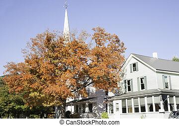 White church Gorham, New Hampshire.