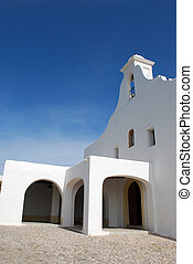 White church in Ibiza
