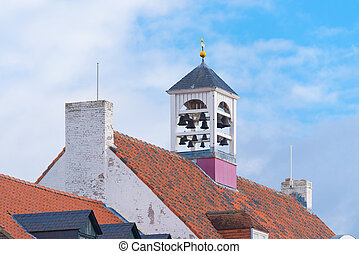 white church in thorn, netherlands - characteristic white ...