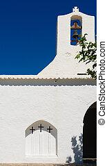 white church of San Carlos de Peralta