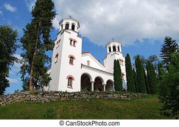 White church on hill
