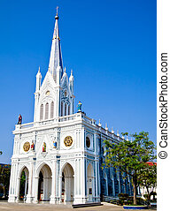 White church with blue sky1
