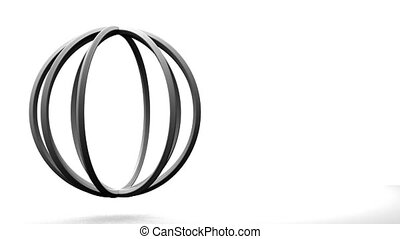 White Circle Abstract On White Text Space. Loop able 3DCG...