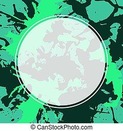 Neon green white explosion paint splatter artistic cover