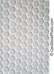 White circle tile pattern