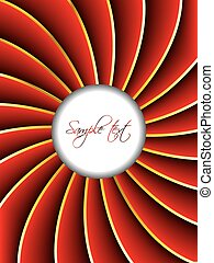 White circle with red twirl background - White circle with...