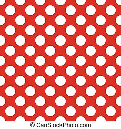 White circles on a red background seamless pattern