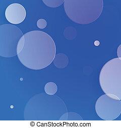 White circles on blue background - vector illustration