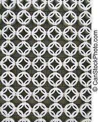 White circular lattice background