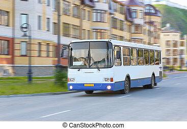 white city bus