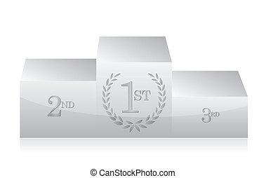 white clean podium illustration design