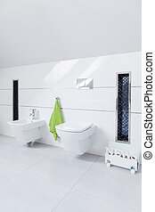 White clean restroom