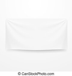 White Clear Textile Banner Template