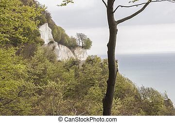White cliffs - Mons, Denmark, Europe.