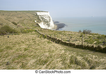 A veiw from the top of the white cliffs of Dover