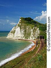 White cliffs of Dover - Beautiful white cliffs near Dover,...