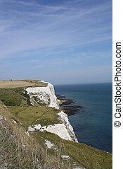 Beautiful white cliffs near Dover, UK