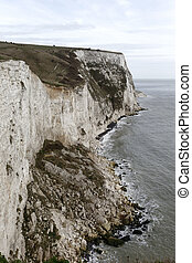 White cliffs of Dover, Kent, March 2014