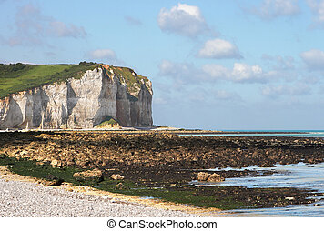 View on the coast of Normandy, France, with its white cliffs