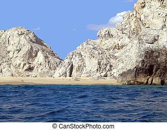 White cliffs scenic view in mexico.