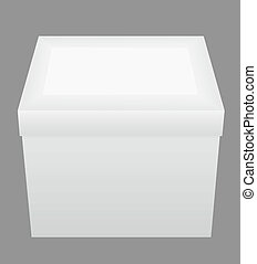 white closed packing box vector illustration isolated on...