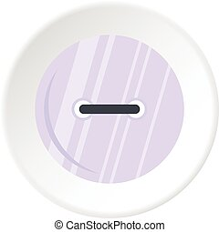 White clothing button icon circle