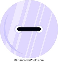 White clothing button icon isolated