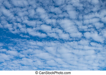 White cloud against blue sky