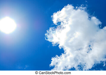 White cloud and blue sky