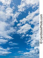 White cloud blue sky