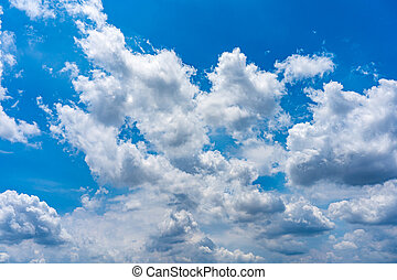 White cloud floating on the blue sky