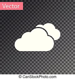 White Cloud icon isolated on transparent background. Vector Illustration