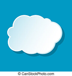 White cloud icon
