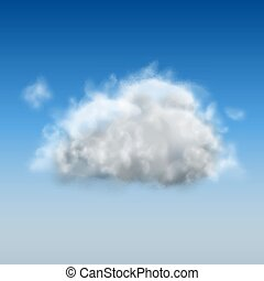 White Cloud Isolated on Blue Sky